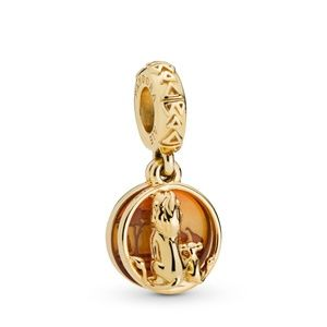 Gold Disney Simba & Mufasa Sunset Dangle Charm